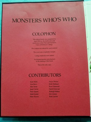 Monster Who's Who - 2
