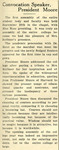 President Moore 1928 Convocation Report Skidmore News Oct