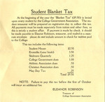 Blanket Tax for Students 1920's 532