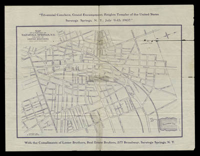 Map of a portion of Saratoga Springs N. Y.