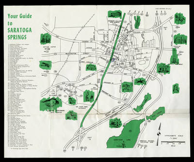 Skidmore Campus Map Saratoga Maps | Special Collections: Rare Books & College Archives