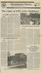 Skidmore News: September 6, 1989 by Skidmore College