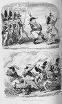 Cruikshank - Comic Almanack 1840-43 Valour & Discretion