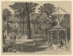 New York, The Clarendon Hotel and Washington Spring at Saratoga