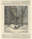 Der Broadway in Saratoga, N.Y. im Winterkleid