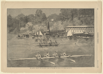 The Saratoga Regatta, The Four-Oared Contest on the Third Day