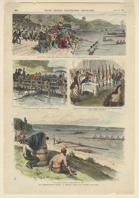 Intercollegiate Regatta at Saratoga, Scenes and Incidents