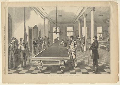 The Billiard Room of the Grand Union Hotel, at Saratoga, N.Y.