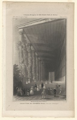 Colonnade de Congress Hall (Etats unis d'Amérique)