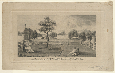 An East View of M'Neal's Ferry at Saratoga